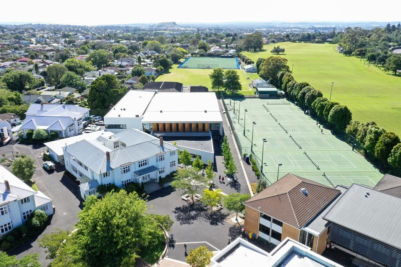 Aerial photo of sports courts